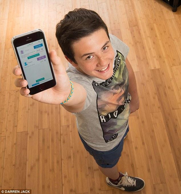 Full picture: Blake Beaton monitored his spending using goHenry