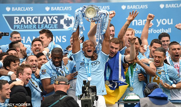 Champions: Manchester City celebrate their win