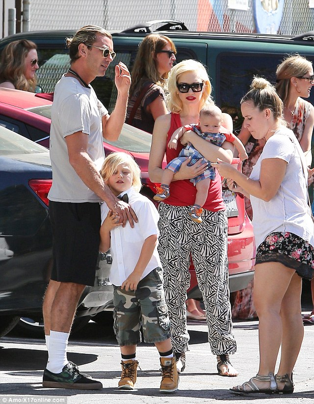 Busy schedule: Gwen is married to Bush lead singer Gavin Rossdale. The couple have three sons together, Kingston, eight, Zuma, five and four-month-old Appollo. The family were seen on Zuma's graduation day on Thursday