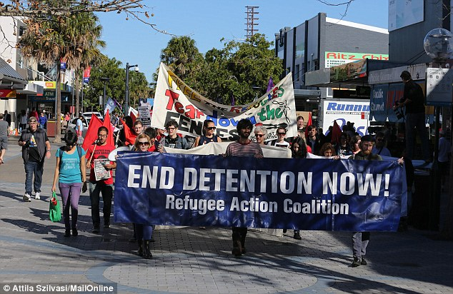 Manus Island, Narau and Australian detention centres were a major talking point at Saturday's rally