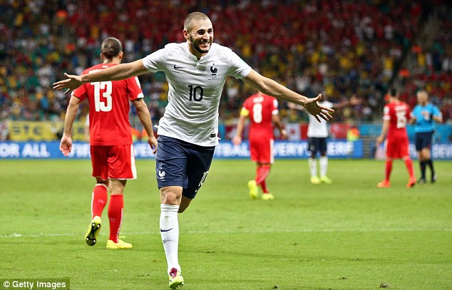 Clinical: Karim Benzema has three goals in two games for France so far at the World Cup