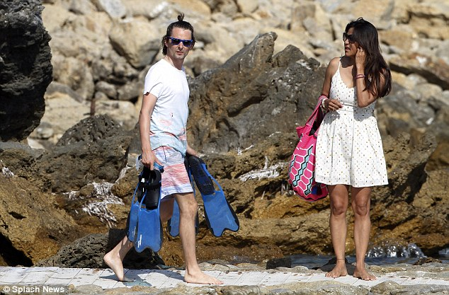 Boating: Matt, Kate and their pals were heading towards a boat to spend the day on the water