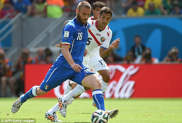 Brink: Italy were beaten 1-0 by Costa Rica and another defeat would send them home