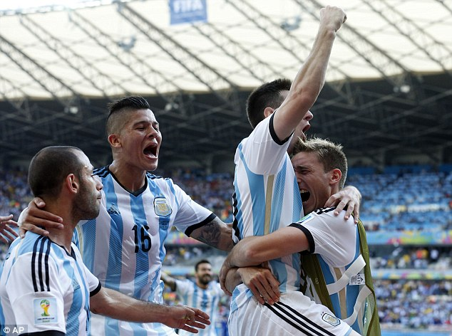 We've made it: Argentina progressed to the next round after beating Iran