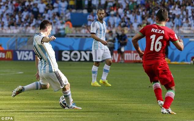 Matchwinner: Messi scored vital goals against Bosnia-Herzegovina and Iran to prove his worth to the team