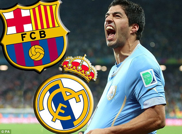 Wanted: Luis Suarez is a target of both Barcelona and Real Madrid