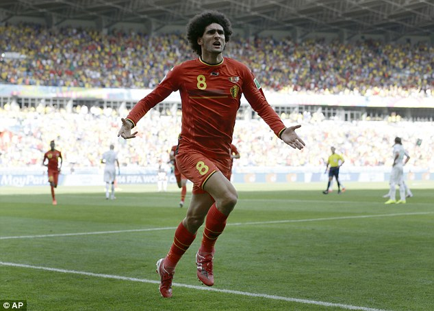 In the frame: Marouane Fellaini could start for Belgium after scoring against Algeria after coming off the bench