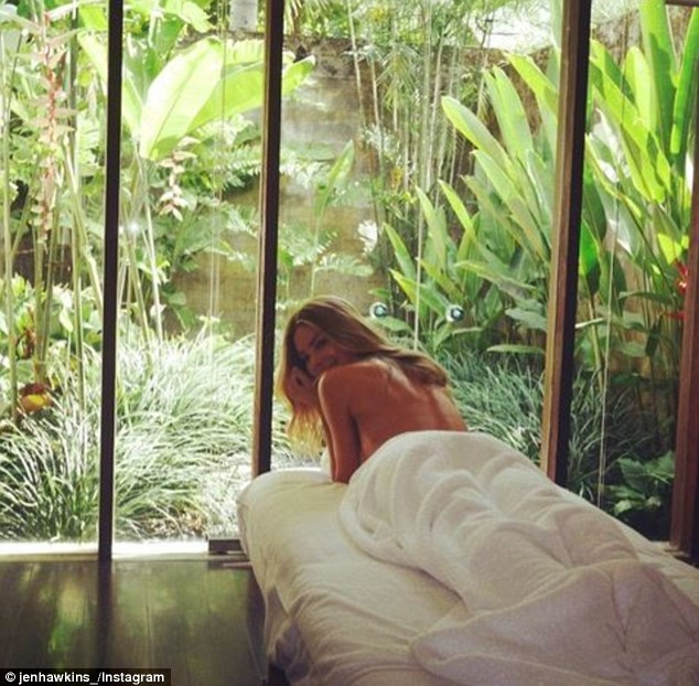 Cheeky Jen! The former Miss Universe indulged in a massage while on a holiday with her sister in Bali this week