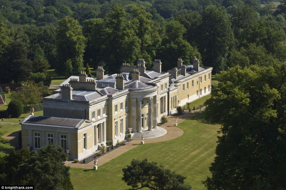 The Grade I listed mansion is set in stunning parkland grounds and features views of Canary Wharf and is only a short distance from Biggin Hill where the new owner can park their private jet