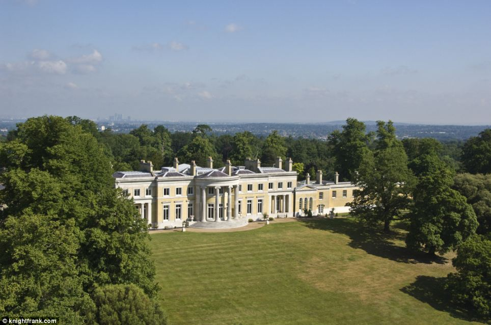 The property is being sold by Knight Frank who have described Holwood House as 'one of the finest Grade I listed Palladian mansions within easy reach of London'