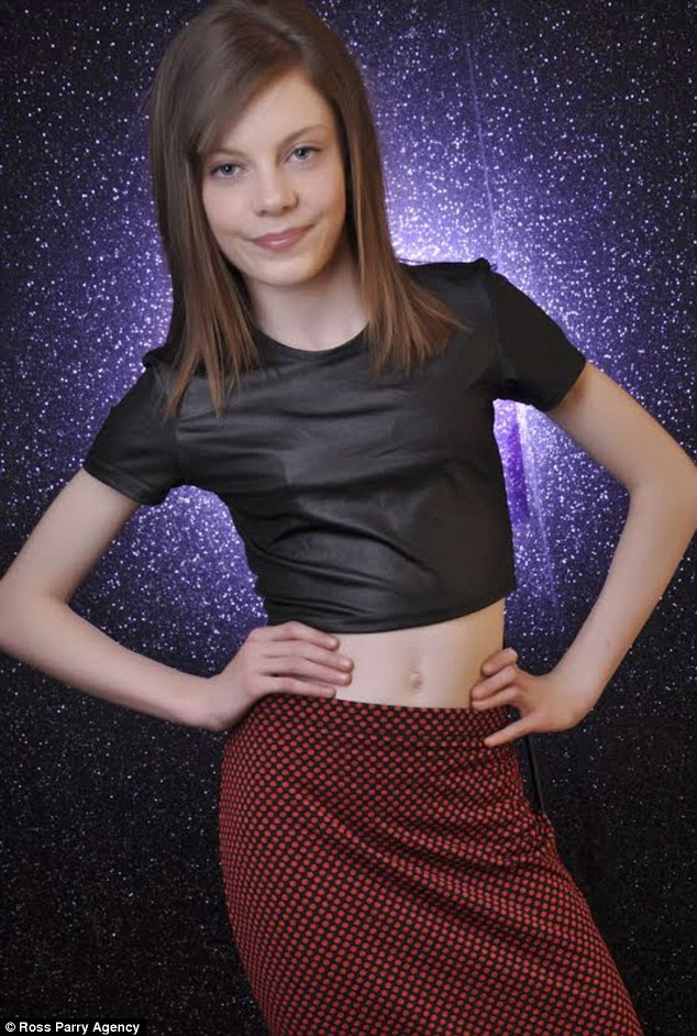 Little beauty: Jasmine Gorman from Garswood, Merseyside, aged 12 was bullied but has won three modeling contracts