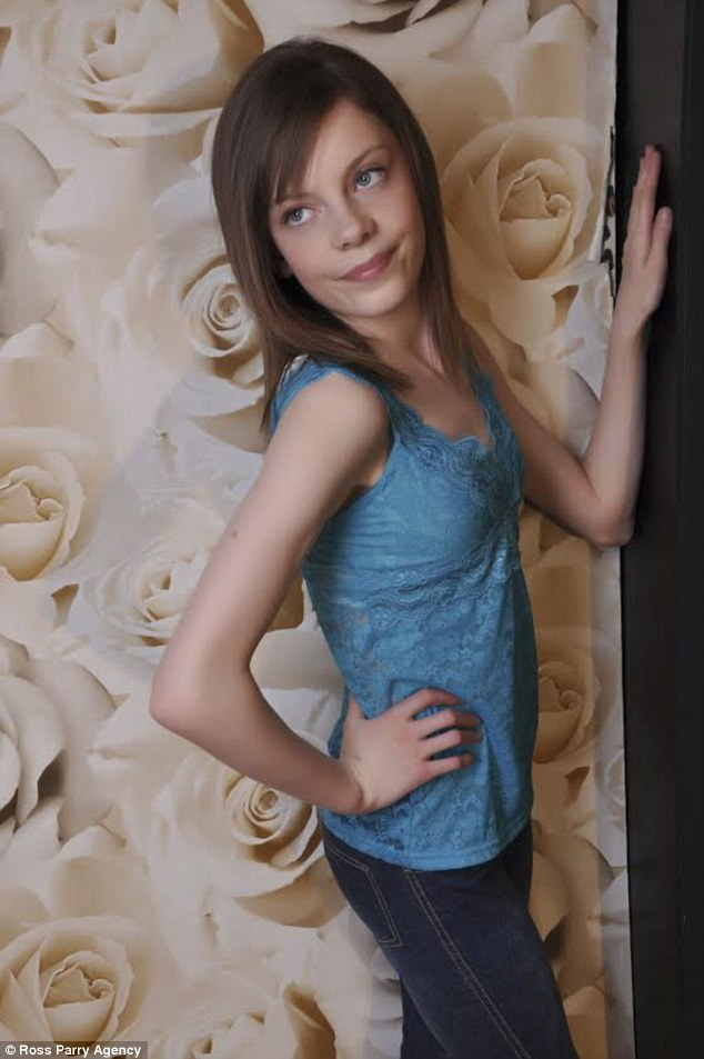Pretty: Bullies forced Jasmine, pictured here, to move schools but now she has the last laugh as she has landed three contracts with modelling agencies