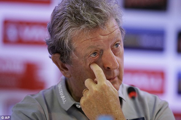 Disappointment: Roy Hodgson's England may have bowed out in the group, but the team did their country proud