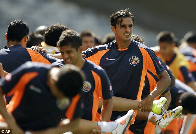 Surprise package: Bryan Ruiz's Costa Rica have gone from underdogs to possible group winners