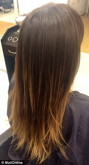 Pesky ends: While the mid-section of my hair was left in much better condition after the candle-cutting (before, left, and after, right) the crispy tips which were left untreated do still stand out