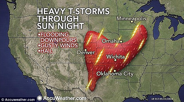 Flooding downpours, gusty winds, and hail loom over Iowa tonight and into tomorrow