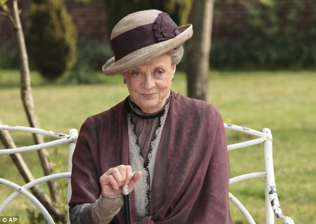 Miss Nicol has reassured fans that even its oldest character, the Dowager Countess of Grantham, played by 79-year-old Maggie Smith, pictured, will survive the fifth series