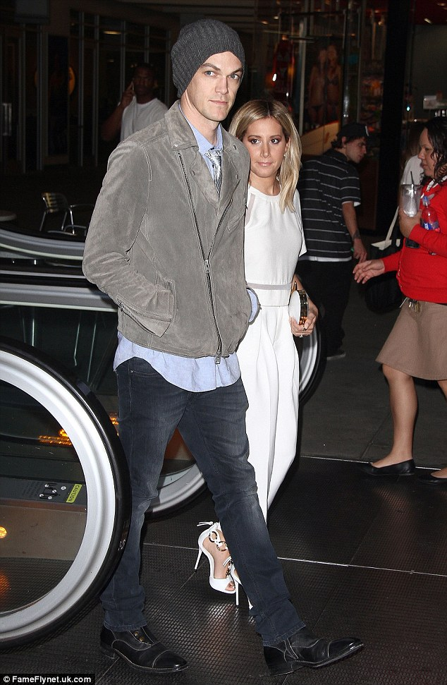 Night out: Ashley and Christopher attended the Grand re-opening of FIGat7th on Thursday