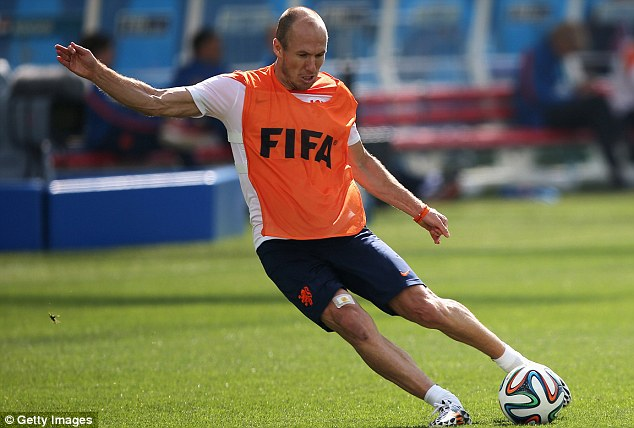 Lethal: Arjen Robben has scored three goals for Holland in two World Cup games so far