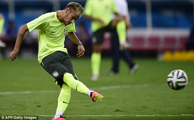 Hopes of a nation: Brazil fans will be praying Neymar can lead them to World Cup glory