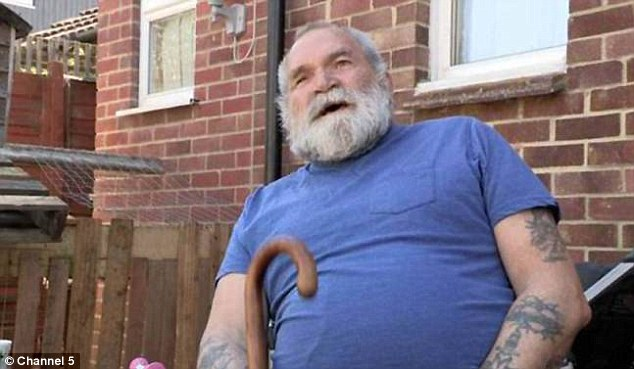 Hard life: Peter Rolfe says he needs a bigger council house and more benefits to support his family