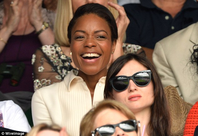 Bond girl: Naomie Harris, who played Eve Moneypenny in Skyfall, enjoyed a day at Wimbledon
