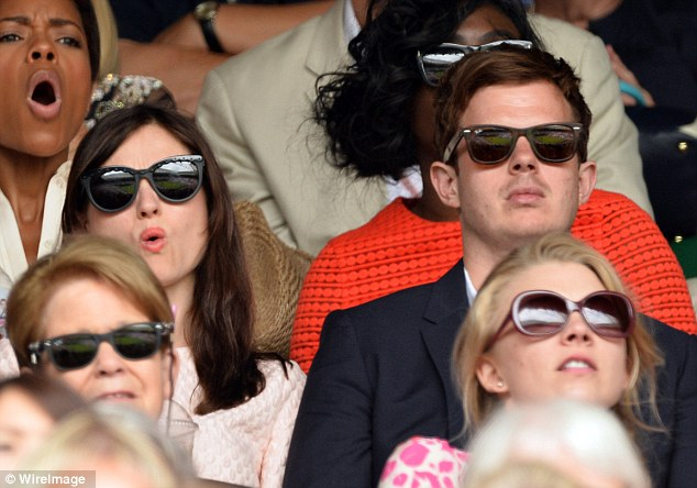 Shot! Sophie Ellis-Bextor and Richard Jones enjoy the tennis on the opening day