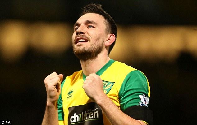 Bounce back: Robert Snodgrass will be eyeing a Premier League return after Norwich's relegation