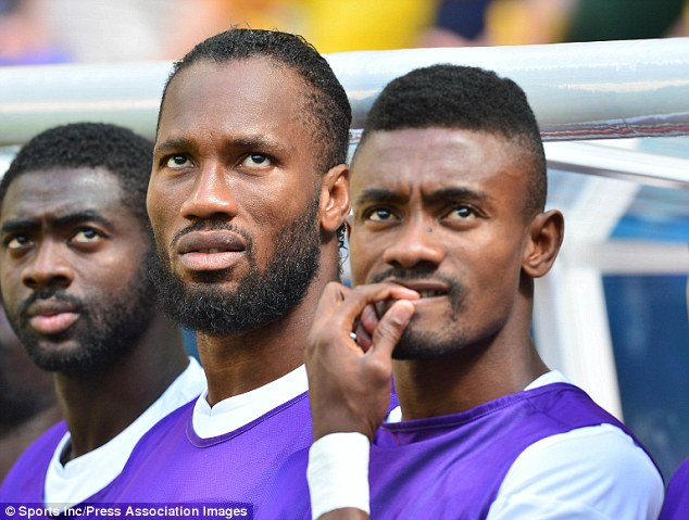Three amigos: Lille are hoping to offload former Chelsea forward Salomon Kalou (right)