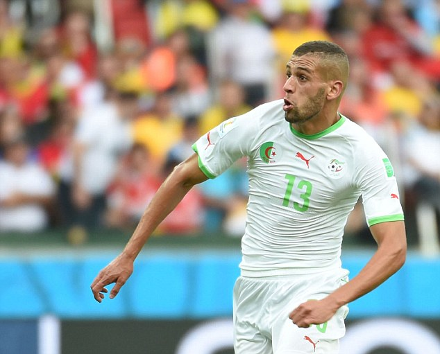 Shop window: Islam Slimani has impressed so far for Algeria at the World Cup