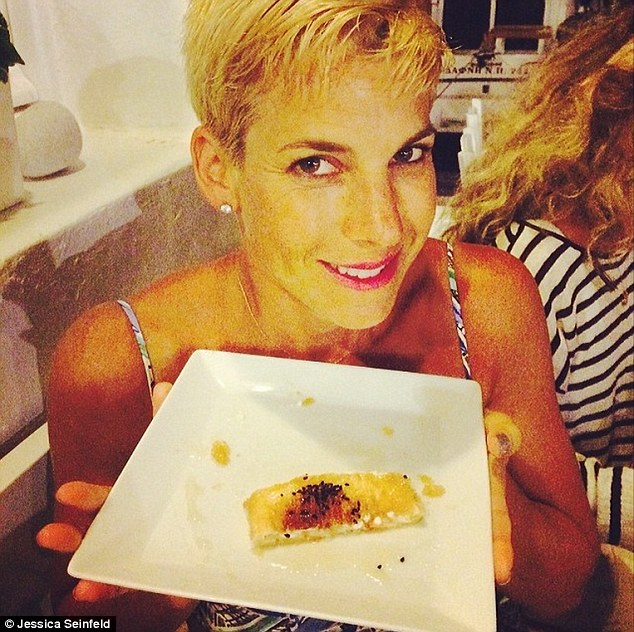 Culinary delights: The blonde posted snaps of her meals while on vacation