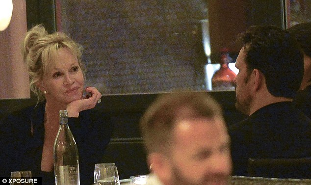Not staying home: Melanie was spotted with actor Matt Dillon - who used to date Cameron Diaz - on Friday evening at Pierluigi in Rome