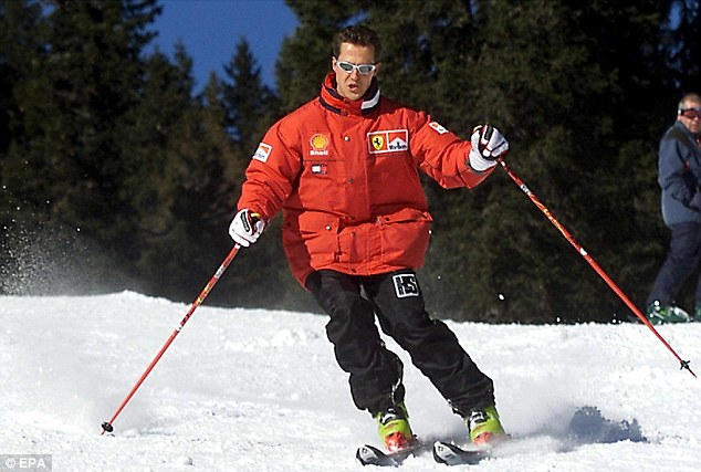 Recovery: Schumacher woke up last week after spending six months in a coma following a skiing accident