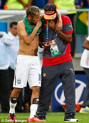 After: Neymar consoles Alex Song