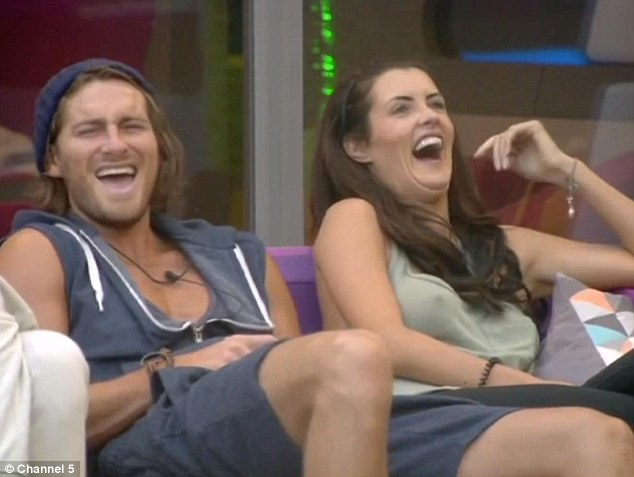 Good times? Ash and Helen laughing on Monday night - despite troubled relations