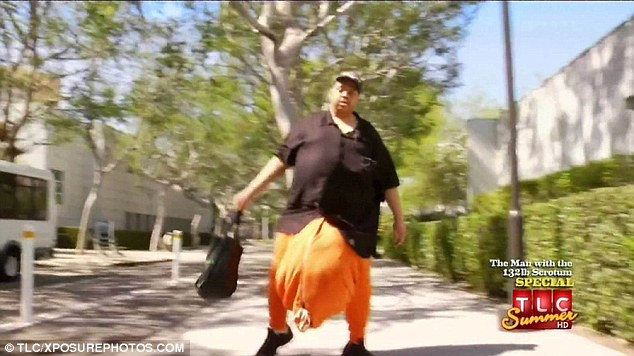Realisation: Mr Maurer discovered was was wrong with him when he watched TLC's reality show The Man With The 132 Pound Scrotum about Wesley Warren Jr (pictured)