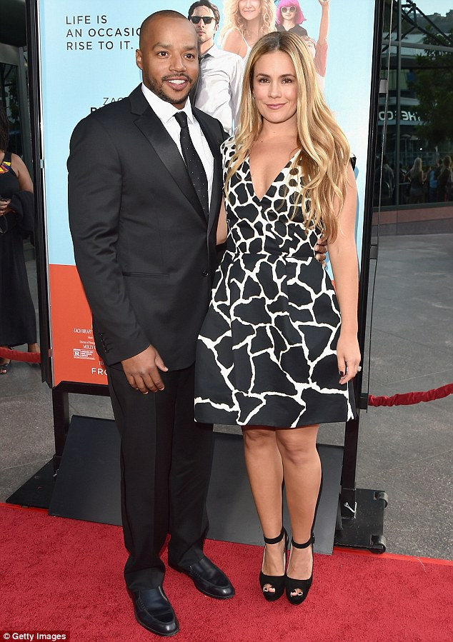 Another star: Donald Faison and his wife CaCee Cobb made a dashing appearance on the red carpet