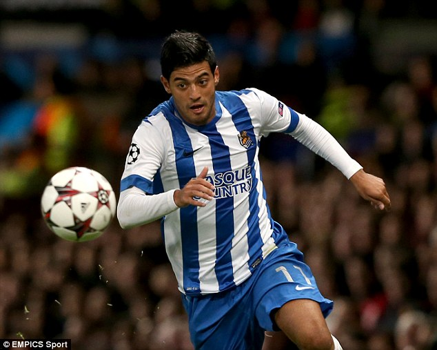Signed on: Carlos Vela is staying at Real Sociedad after agreeing a contract extension