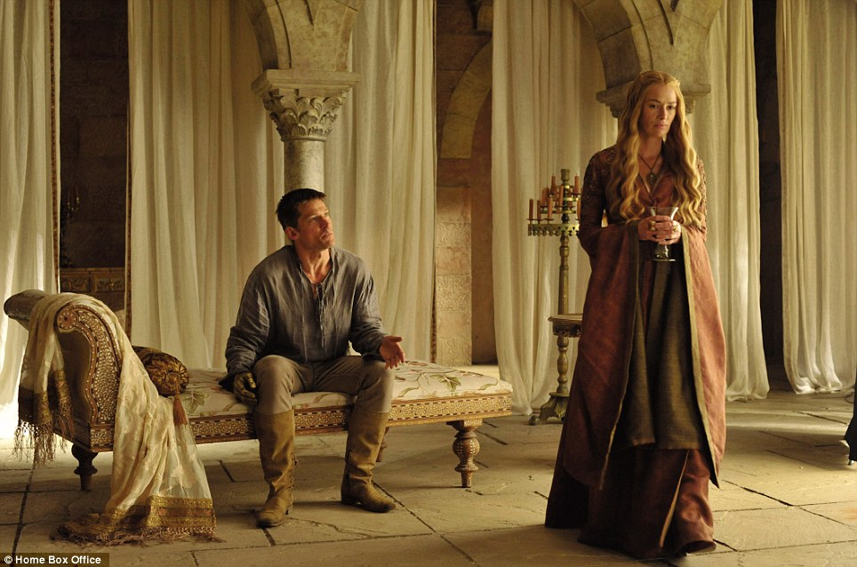 Wicked queen: In the fantasy world of Westeros, the evil Queen Cersei rules the roost - with the help of her brother, and erstwhile lover, Jaime Lannister