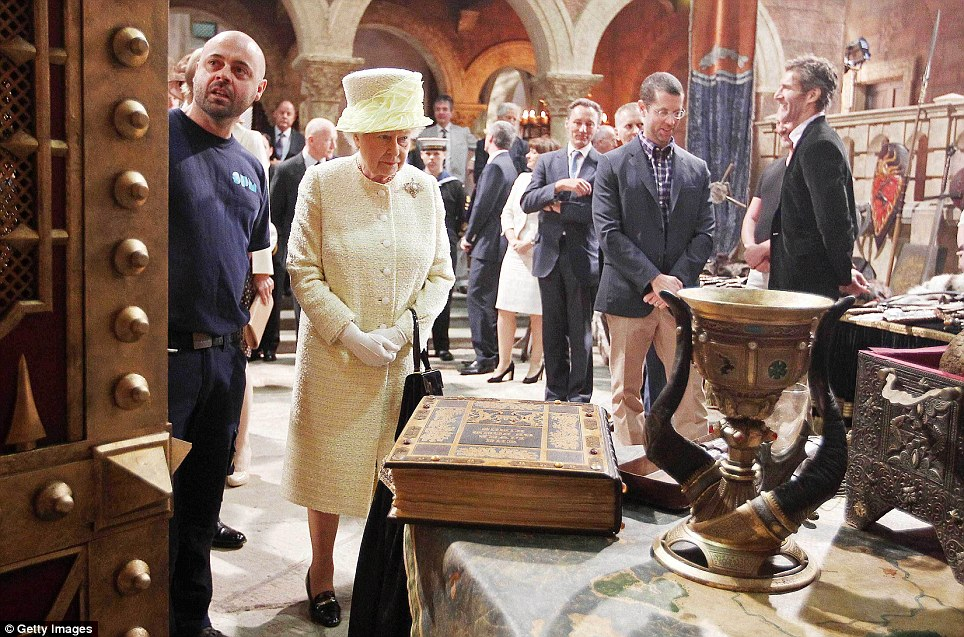 One has better jewels in the Tower! The Queen looked less than impressed with the contents of the Westeros royal treasury
