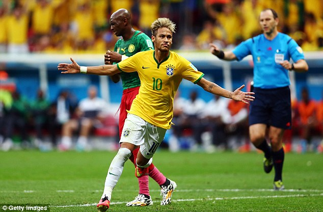Samba magic: Brazil will face Chile in the last 16 on Saturday in a battle of the South American sides