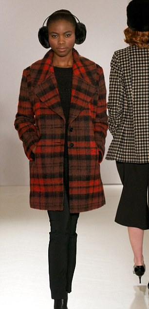 Fresh off the runway: George at Asda's AW14 show, left, sent models down the catwalk in a #CozyGirl coat, while Very.co.uk are going cosy crazy this season