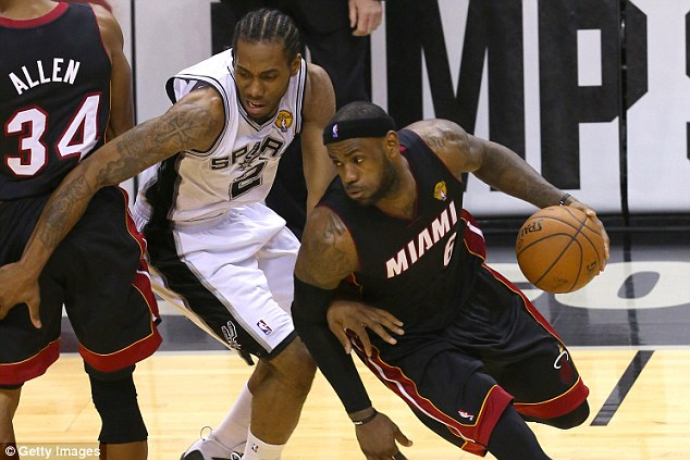 Path blocked: James was on the losing side for Miami Heat as they lost to San Antonio Spurs in the NBA Finals