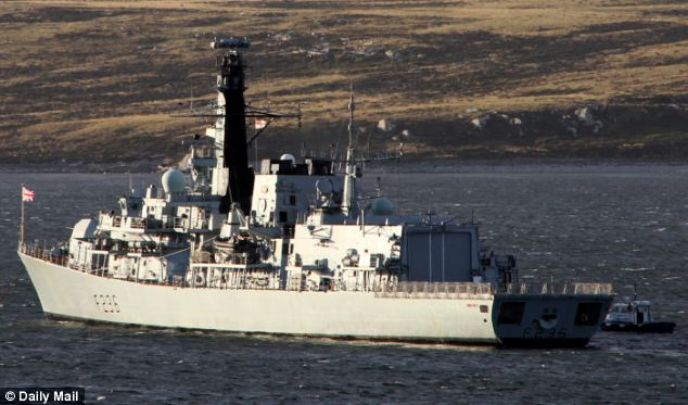 Dispatched: HMS Montrose, a Type 23 frigate, was taking part in a multinational exercise off the Danish coast when she was sent to investigate an unidentified surface ship picked up on radar