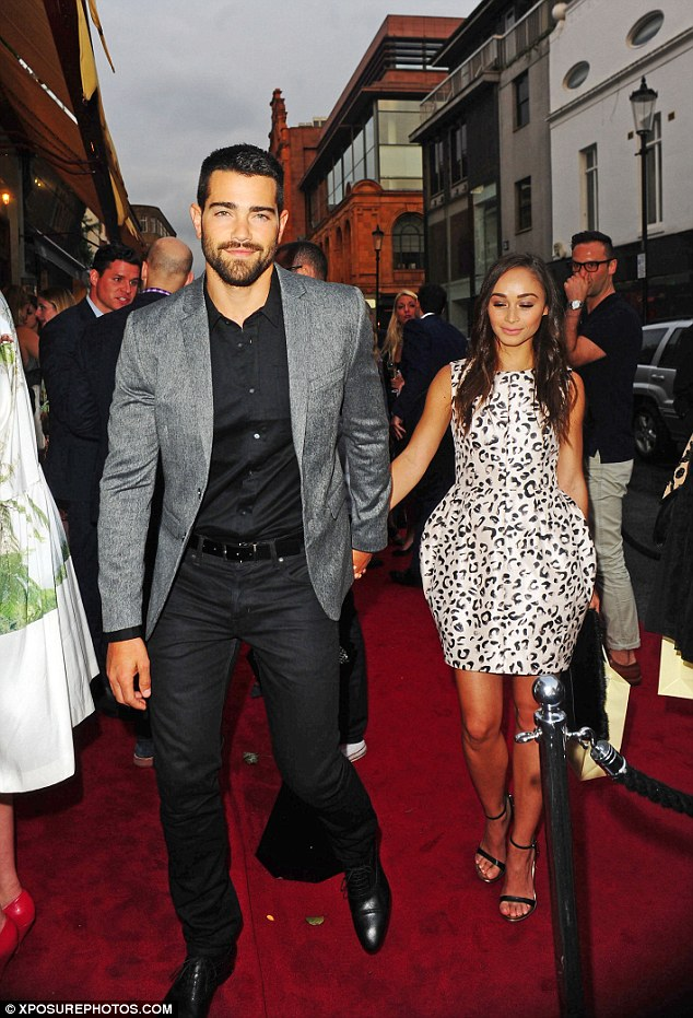 Party time: Jesse Metcalfe and Cara Santana attend the 50th anniversary and relaunch of Daphne's restaurant in London on Tuesday night