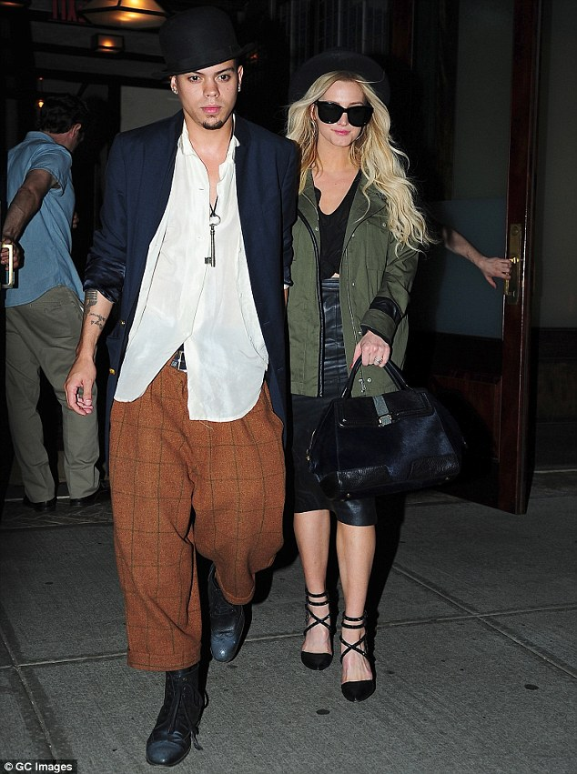 Date night: Ashlee Simpson and Evan Ross showed off their street style as they headed to dinner at Morandi restaurant in New York City Tuesday