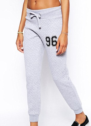 Daisy Street Quilted Joggers With Number Applique, £17.99, Asos.com