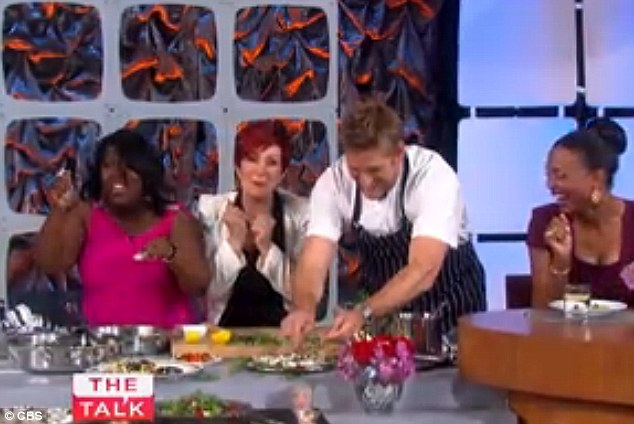 Cracking up in front of the cameras: Curtis Stone tells Sheryl Underwood to button it