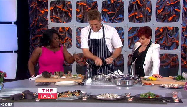 Stop asking questions! Sheryl kept interrupting as Curtis attempted to explain how to cook a fish dish