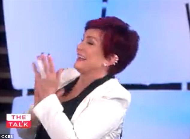 Love it! Show host Sharon Osbourne applauds Curtis's outburst